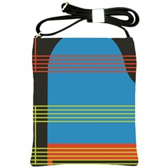 Sketches Tone Red Yellow Blue Black Musical Scale Shoulder Sling Bags
