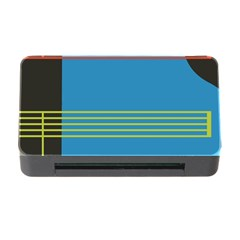Sketches Tone Red Yellow Blue Black Musical Scale Memory Card Reader With Cf