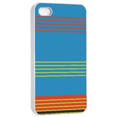 Sketches Tone Red Yellow Blue Black Musical Scale Apple Iphone 4/4s Seamless Case (white) by Alisyart