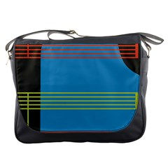 Sketches Tone Red Yellow Blue Black Musical Scale Messenger Bags