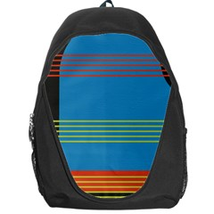 Sketches Tone Red Yellow Blue Black Musical Scale Backpack Bag by Alisyart