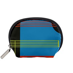 Sketches Tone Red Yellow Blue Black Musical Scale Accessory Pouches (small)