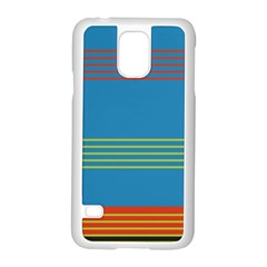 Sketches Tone Red Yellow Blue Black Musical Scale Samsung Galaxy S5 Case (white)