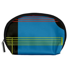 Sketches Tone Red Yellow Blue Black Musical Scale Accessory Pouches (large)
