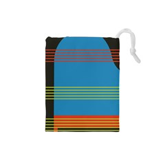 Sketches Tone Red Yellow Blue Black Musical Scale Drawstring Pouches (small)