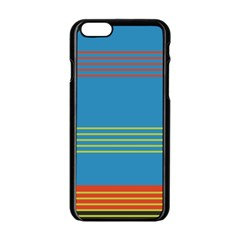 Sketches Tone Red Yellow Blue Black Musical Scale Apple Iphone 6/6s Black Enamel Case by Alisyart