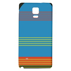 Sketches Tone Red Yellow Blue Black Musical Scale Galaxy Note 4 Back Case