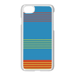 Sketches Tone Red Yellow Blue Black Musical Scale Apple Iphone 7 Seamless Case (white)