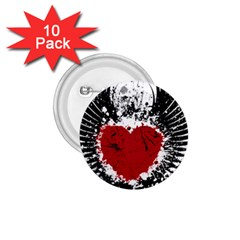 Wings Of Heart Illustration 1 75  Buttons (10 Pack)