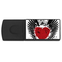Wings Of Heart Illustration Usb Flash Drive Rectangular (4 Gb) by TastefulDesigns