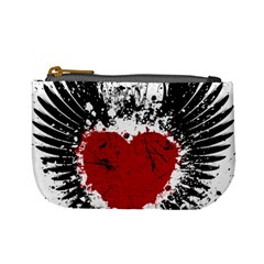 Wings Of Heart Illustration Mini Coin Purses by TastefulDesigns