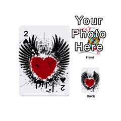 Wings Of Heart Illustration Playing Cards 54 (mini)  by TastefulDesigns
