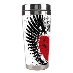 Wings Of Heart Illustration Stainless Steel Travel Tumblers by TastefulDesigns