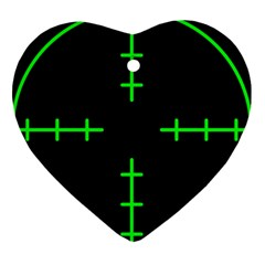 Sniper Focus Heart Ornament (two Sides) by Alisyart