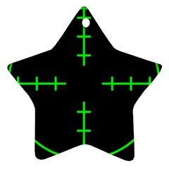 Sniper Focus Star Ornament (two Sides)