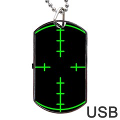 Sniper Focus Dog Tag Usb Flash (two Sides) by Alisyart