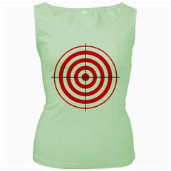 Sniper Focus Target Round Red Women s Green Tank Top by Alisyart