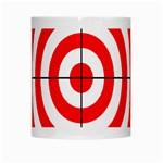 Sniper Focus Target Round Red White Mugs Center