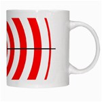 Sniper Focus Target Round Red White Mugs Right
