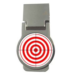 Sniper Focus Target Round Red Money Clips (round)