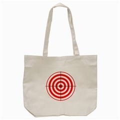 Sniper Focus Target Round Red Tote Bag (cream) by Alisyart