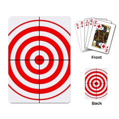 Sniper Focus Target Round Red Playing Card by Alisyart