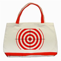 Sniper Focus Target Round Red Classic Tote Bag (red) by Alisyart