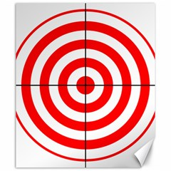 Sniper Focus Target Round Red Canvas 20  X 24
