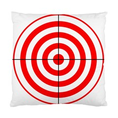 Sniper Focus Target Round Red Standard Cushion Case (two Sides) by Alisyart