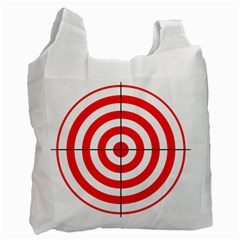 Sniper Focus Target Round Red Recycle Bag (one Side) by Alisyart
