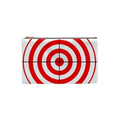 Sniper Focus Target Round Red Cosmetic Bag (small)  by Alisyart
