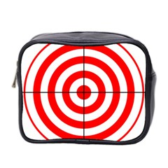 Sniper Focus Target Round Red Mini Toiletries Bag 2 Side by Alisyart