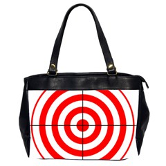 Sniper Focus Target Round Red Office Handbags (2 Sides)  by Alisyart