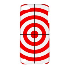 Sniper Focus Target Round Red Apple Ipod Touch 5 Hardshell Case by Alisyart