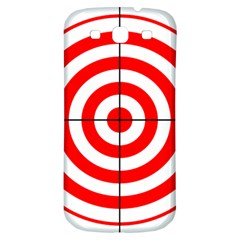 Sniper Focus Target Round Red Samsung Galaxy S3 S Iii Classic Hardshell Back Case by Alisyart