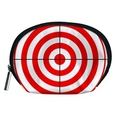 Sniper Focus Target Round Red Accessory Pouches (medium)  by Alisyart