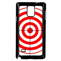 Sniper Focus Target Round Red Samsung Galaxy Note 4 Case (black) by Alisyart