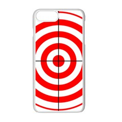 Sniper Focus Target Round Red Apple Iphone 7 Plus White Seamless Case by Alisyart
