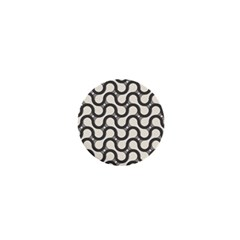 Shutterstock Wave Chevron Grey 1  Mini Magnets by Alisyart