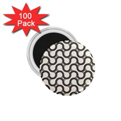 Shutterstock Wave Chevron Grey 1 75  Magnets (100 Pack)
