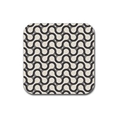 Shutterstock Wave Chevron Grey Rubber Coaster (square)  by Alisyart