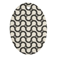 Shutterstock Wave Chevron Grey Oval Ornament (two Sides) by Alisyart
