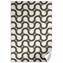 Shutterstock Wave Chevron Grey Canvas 24  X 36  by Alisyart
