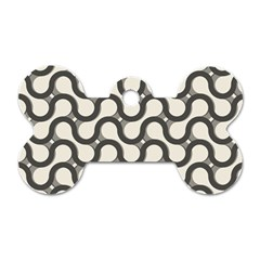 Shutterstock Wave Chevron Grey Dog Tag Bone (one Side) by Alisyart