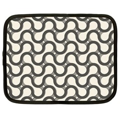 Shutterstock Wave Chevron Grey Netbook Case (xl)  by Alisyart