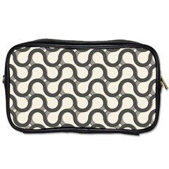Shutterstock Wave Chevron Grey Toiletries Bags by Alisyart
