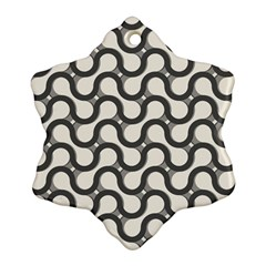 Shutterstock Wave Chevron Grey Ornament (snowflake)