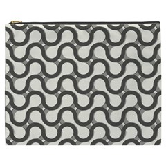 Shutterstock Wave Chevron Grey Cosmetic Bag (xxxl)  by Alisyart