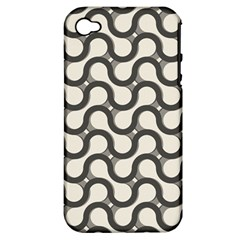 Shutterstock Wave Chevron Grey Apple Iphone 4/4s Hardshell Case (pc+silicone) by Alisyart