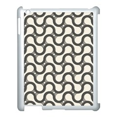 Shutterstock Wave Chevron Grey Apple Ipad 3/4 Case (white)